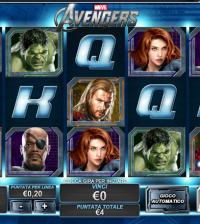 Avengers slotmachine