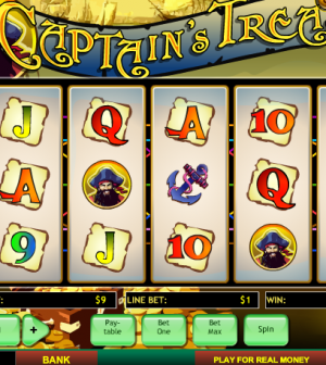 Captain's treasure slotmachine
