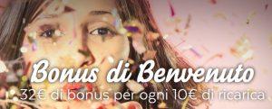 Bonus Benvenuto migliori casino online AAMS
