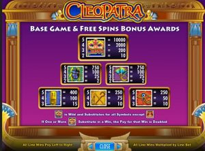 Cleopatra slot machine gratis