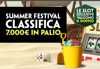 Paddy Power Casino Classifica Summer Festival 7.000€