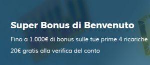 StarCasinò nuovo Super Bonus di Benvenuto